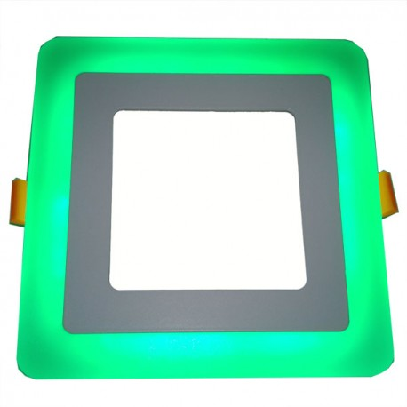 Panel Encastrable 2 Couleurs Slim Carré 6 W Green